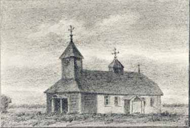 The Church In Gryzovo Drawing 1890 S