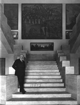 Nikolas Roerich in the Roerich Museum.