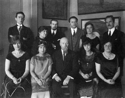 The personnel of the Roerich museum in New York.