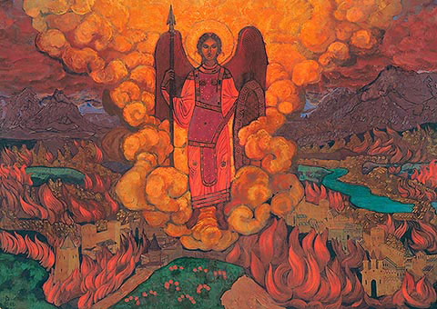 N.K. Roerich. «The Last Angel». 1912.