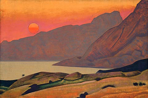 N.K. Roerich. «Monhegan, Maine». From «Ocean» series. 1922.